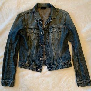 Vintage Diesel women's distressed jean jacket